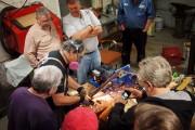Victor demonstrating his grinding method